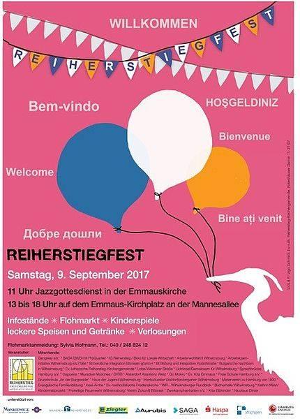 plakat reiherstiegfest 2017